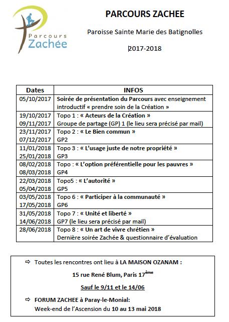 Programme Parcours