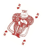 Carte à jouer roi de cœur Jean Boggio