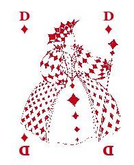 Carte à jouer Ozanam Boggio dame carreau