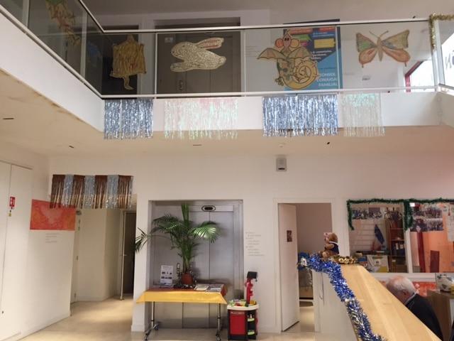 Décorations Noël hall maison Ozanam 2016