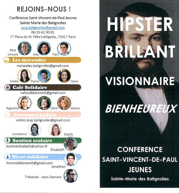 Réunion Conférence St-Vincent de Paul jeunes @ Maison Ozanam | Paris-17E-Arrondissement | Île-de-France | France