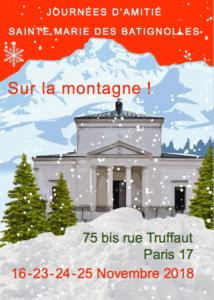Journées d'amitié à Ste-Marie des Batignolles (23-25 novembre) @ Maison Sainte-Marie | Paris | Île-de-France | France