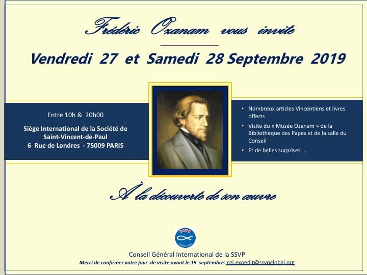 Invitation de la Conférence St-Vincent de Paul